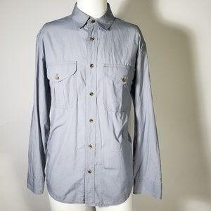 Filson Smoke Blue Feather Cloth Button Down Shirt